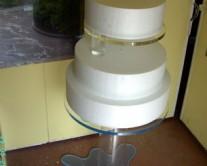 βάση για τούρτα από plexiglass