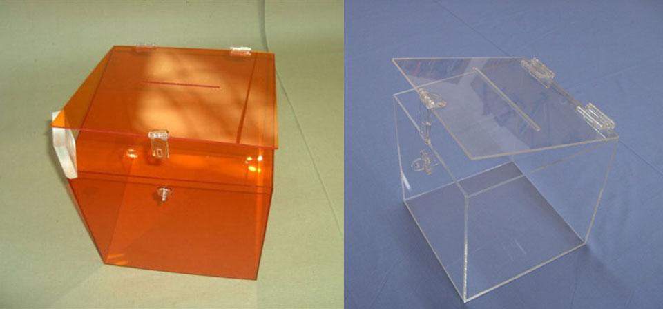 Κάλπες plexiglass, κληρωτίδες κουτιά παραπόνων