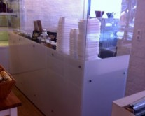 κάλυμμα bar από plexiglass