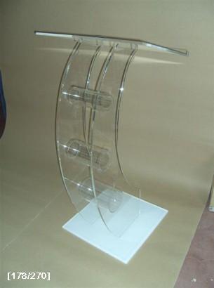 αναλόγιο acrylic με καμπύλη και άσπρη βάση