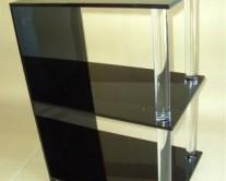 μαύρα ράφια από plexiglass (pmma)