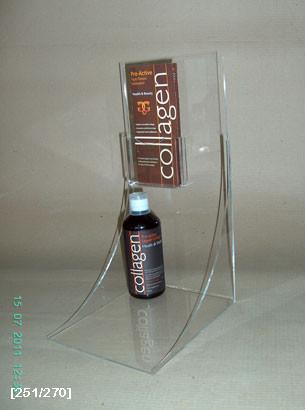 σταντ με καμπύλη για παρουσίαση προϊόντος