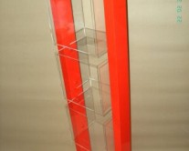 plexiglass σταντ κόκκινο και πορτοκαλί