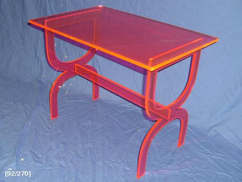 orange acrylic desk