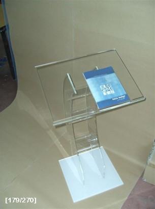 αναλόγιο ομιλιών πλέξιγκλας με καμπύλη και άσπρη βάση 2