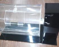 Περιστρεφόμενη κάλπη με moter από Plexiglass