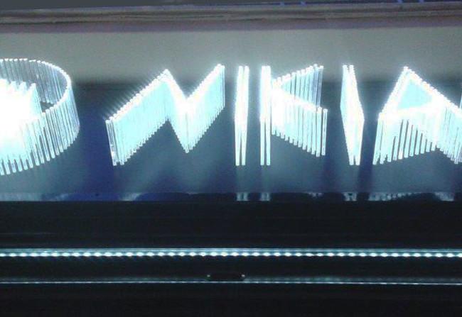 Φωτεινή επιγραφή από Plexiglass