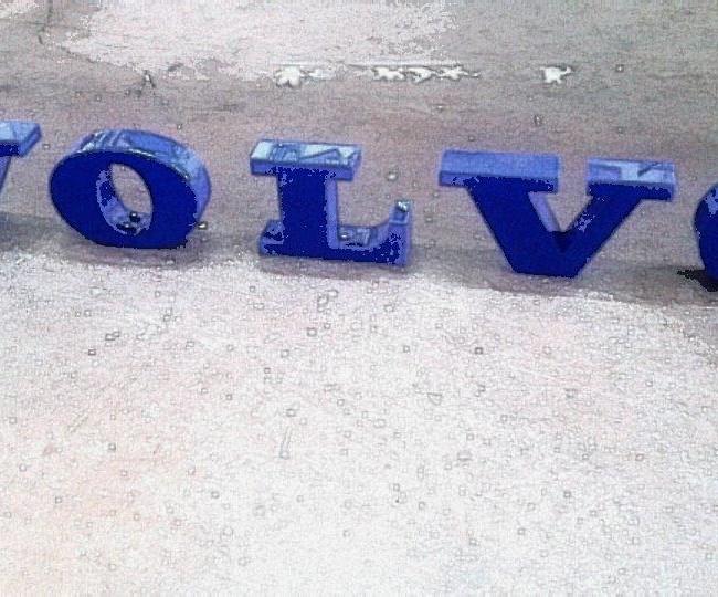 Επιγραφή Volvo από plexiglass