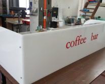 Πλεξιγκλας κατασκευή σε καφετέρια – coffee bar