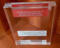 Award made by plexiglass