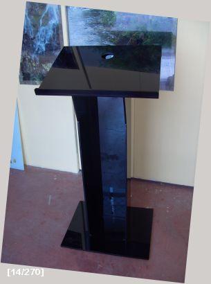 αναλόγιο συνεδρείων μαύρο από plexiglass2