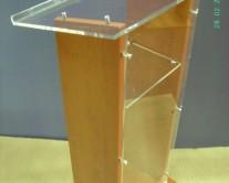 Αναλόγιο συνεδρείων και ομιλητών plexiglass με ξύλο