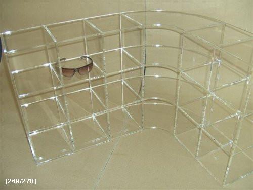βιτρίνα γυαλιών από plexiglass