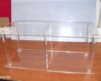 διαφανή ράφια από plexiglass