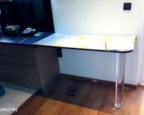 επέκταση κουζίνας από plexiglass