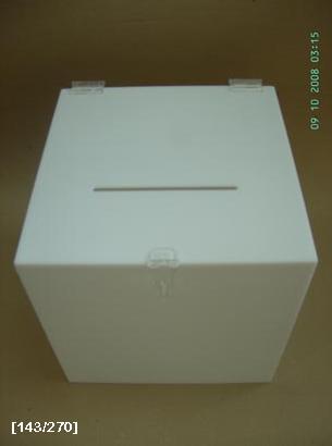 κάλπη άσπρη από plexiglass
