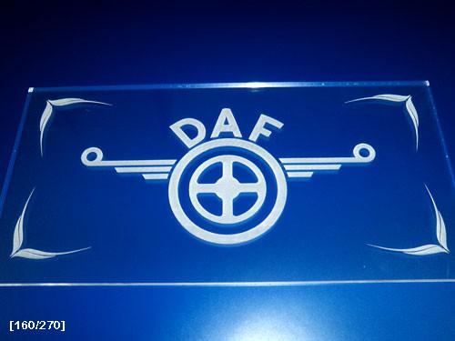 DAF χάραξη plexiglass με laser