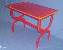 orange acrylic desk