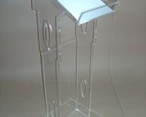 podium acrylic glass with holes