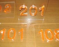 Αριθμοί από Plexiglass