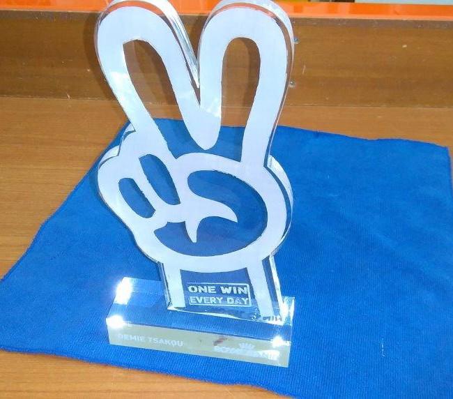 Μοναδική δημιουργία βραβείου σε πλέξιγκλας